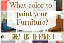 Painting Furniture / Refurbishing Furniture with paint