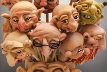 Polymer Clay FACES / Faces, faces, & more faces - inspiration for making your own sculpted face in polymer clay. Not ALL faces on this board are polymer, but are meant as INSPIRATION. Some tutorials are also on this board.