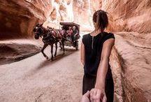 Jordanien Reisen / Petra  / Auf dieser Pinwand seht ihr Bilder aus dem Wüstenstaadt Jordanien. Von Petra, über die Wüste Wadi Rum bis ans eindrückliche Tote Meer.