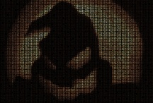 Halloween / Halloween mosaics. Ghosts, Bats, Jack O'Lantern, etc.