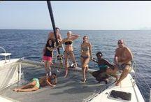Isole Egadi in catamarano / Una rilassante vacanza alle Isole Egadi in un comodo catamarano.  Un fantastico tour a vela alla ricerca delle più belle spiagge di Favignana, Levanzo, Marettimo e l'area marina protetta delle Isole Egadi. http://www.jonas.it/isole_egadi_catamarano_301.html