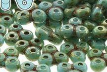 Czech 3-hole Trinity Beads
