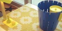 Deco bleu & jaune / Blue & Yellow trend / Le bleu et jaune,des couleurs qui se marient parfaitement et qui mettront un coup de pep's à votre intérieur ! Découvrez la sélection Pure Deco.