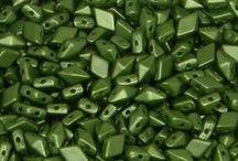 Czech 2-Hole DiamonDuo Beads