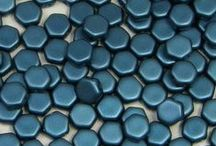 Czech 2-Hole Honeycomb Beads