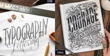 Lettering and Illustration / Beautiful hand lettered work from some of the best artists in the world. Curating amazing typographic, lettering and illustration works of art.
