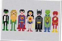 hama beads superheros