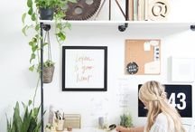 Office / Decorating inspiration pictures and products for the home office space / by Linda Reinhardt