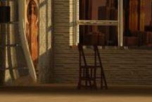 | ALBANO | Pizzurro Daniele | CarusoDesignLab | Sedia-scaletta | / Nella Biblioteca, la sedia-scaletta assume ruolo ora marginale ora fondamentale nella sua doppia funzione. Oggetto metamorfico, possiede i caratteri propri dell'Art nouveau. Concessioni simboliche risultano però evidenti nelle terminazioni alla base e in sommità ovvero in due ornamenti d'ispirazione fitomorfica. Si tratta di una pianta carnivora, la Sarracenia Purpurea, cresce adagiata sul terreno, e la Nepenthes, che invece s'innalza per flettersi a causa del peso degli ascidi.