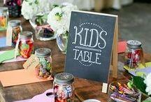 Ideas para la decoración de la mesa de los niños en una boda