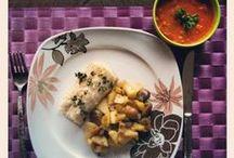 Poissons et pommes / Découvrez des recettes où les pommes se marient avec le poisson : saumon, cabillaud, Saint-Jacques, andouillettes,etc.