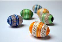 Velikonoční vajíčka / Easter eggs - My creation / Moje tvorba velikonočních vajíček - kraslic.  My creation of Easter eggs.