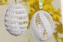 Velikonoční vajíčka - obháčkovaná - Inspirace / Inspirace z netu na výrobu velikonočních vajíček - obháčkovaných.