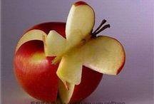 Décorations avec des pommes / La pomme on peut bien sûr la manger... avec les yeux ! Découvrez des idées #déco et #DIY sympas pour embellir vos tables.