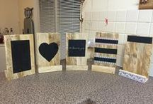 WORKSHOP IPAD / First workshop making a pallet wood iPad /chalkboard stand.