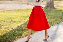 Red Skirts Inspiration / Post your best Red Skirts here, try find great images and share your inspiration with everyone <3