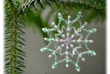 Vánoční ozdoby 2014 / Christmas snowflakes 2014 / Moje tvorbička / my creation