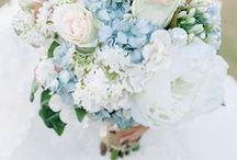 Blue Theme Wedding Flowers / wedding floral inspiration