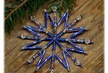 Vánoční ozdoby 2015 / Christmas snowflakes 2015 / Moje vánoční tvorba / My creation