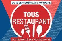 Tous au Restaurant 2016 / La pomme Ariane les Naturianes est partenaire officiel de l'opération Tous au Restaurant 2016, qui propose un menu offert pour un menu acheté dans les plus beaux restaurants de France du 19 septembre au 2 octobre 2016.