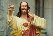 Buddy Christ and his merry men