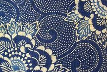 Blue and white inspiration / Blue and white patterns on textiles and tiles