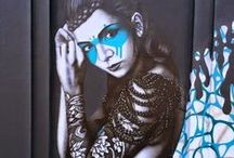 Artists: Fin DAC / Non-conformist urban/stencil artist with influences ranging from graphic novels to Francis Bacon/Aubrey Beardsley. Founder/Originator of Urban Aesthetics.