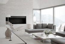 BLANC + woonkamer / woonkamers met een lichte natuurlijke uitstraling