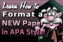 APA Style Help / Learn how to write and format a formal paper according to APA style, 6th edition.