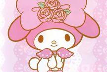 I LOVE SANRIO / Hello Kitty, My Melody, Kuromi, Tuxedosam, Badtz-Maru, Little Twin Stars, Pochacco, Keroppi, Chococat, Patty&Jimmy, Cinnamonroll, Charmy Kitty & Cinnamangels / by Caroline K.