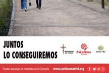 RETO EN TWITTER #JUNTOSLOCONSEGUIREMOS / Manda las fotos de tus zapatos y las pondremos en el camino junto a las personas que están en desempleo.  Con la etiqueta #JUNTOSLOCONSEGUIREMOS en Twitter @CaritasMadrid y las iremos colocando en el Cartel de la Campaña Contra el Paro, para caminar todos juntos, porque JUNTOS LO CONSEGUIREMOS.