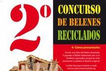 """2º Concurso de BELENES RECICLADOS de Cáritas Madrid / Buscamos Belenes hechos con materiales reciclados, ya que nos encontramos en un momento donde es necesario recurrir a la creatividad y a los materiales que ya tenemos, en """"pro"""" de un consumo más solidario, justo, ético y responsable."""