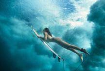 kitesurfing and surfing
