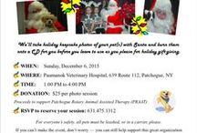 Pet Photo's with Santa / Make an appointment to have your pet photographed with Santa. All proceeds go to PRAAT/Patchogue Rotary Animal Assisted Therapy program. Call us to schedule your photo session: 631-475-1312