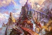 Monde fantastique / Elfes Fées Dragons Nature