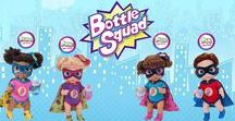 Bottle Squad / Bottle Squad is a superhero babies team, with unique superhero powers. They love going on adventures, engage in fun activities, explore new things, make friends, sing, dance and trigger the imagination.