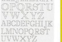 cross stitch ABC / Betűk, monogramok / by S Nagy Margit