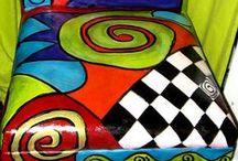 Värituunausta huonekaluille / colourful furnitures
