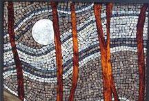 mosaiikki: puita ja maisemia