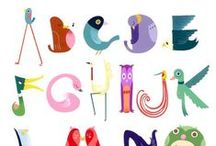 Alphabet Charts / These are some of my favorite alphabet charts. Perfect inspiration for children learning their letters.