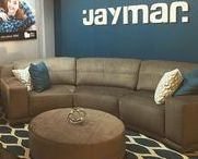 High Point Market 2016 / Jaymar showroom at the IHFC building, Design Center booth D508 Furniture, Upholstery, Sofa, Love seat, Motion, Upholstered Beds, bed with storage.