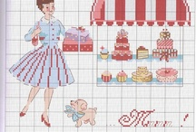cross stitch inspiration / I learned to cross-stitch when I was 10 and I've never stopped! It is so relaxing and rewarding! / by jill w.