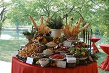 Banquet Food Displays & Menu Ideas / How do you display your food at a banquet, ladies meeting or party? Here are some great ideas!