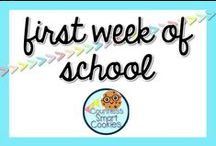 <<First Week of School>> / First day/week of school for the smart elementary cookies!