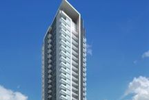 Minto88 / Located at 88 Sheppard Av. E. in Toronto's downtown North York, Minto 88 is a spectacular 35 storey tower and townhome condominium community now under construction. Architecture is by Rafael Bigauskas Architects Inc.