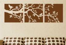 Træer & natur - Wallstickers fra NiceWall.dk / Her finder du skønne træer og dejlige dyr som wallstickers.