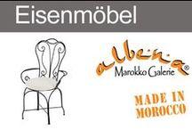 Handgeschmiedete Eisenmöbel aus Marokko / Unsere handgeschmiedeten Möbel aus Marokko schaffen drinnen & draußen eine mediterrane Atmosphäre. Orientalische Hocker und Eisenbänke mit individuellem Charakter. Stabile Eisenstühle mit fein geschwungenen Zierelementen oder auch schlicht und gerade geformte Sitzmöbel - passend zu einem modernen Wohnstil. Eisenmöbel aus Marokko sind massiv und rustikal nach alter Tradition geschmiedet.