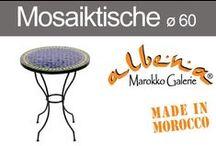 Marokkanische Mosaiktische ø 60cm / Kunsthandwerk Pur ! Handgefertigte Mosaiktische aus Marrakech. Bistrotische, Kaffetische, Beistell - und Couchtische - in mehr als 20 verschiedenen Farben.