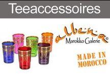 Orientalische Teeaccessoires / Typisch marokkanische Teegläser für Heiß - und Kaltgetränke. Traditionelle Teekannen, Zuckerdosen, Teetabletts und bezaubernde Accessoires für den orientalisch gedeckten Tisch.