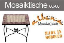 Mosaiktische 60x60cm / Echte, marokkanische Mosaiktische für Garten, Balkon und Terrasse. Als Couchtische oder Kaffeetische.